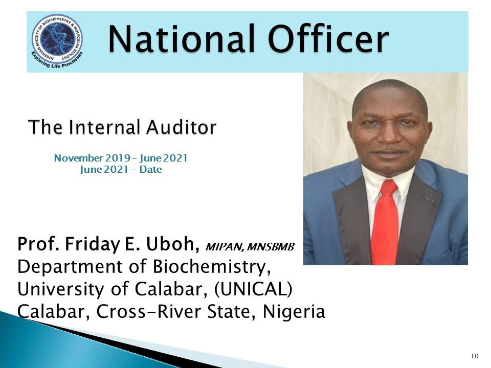 Prof. Friday E. Uboh